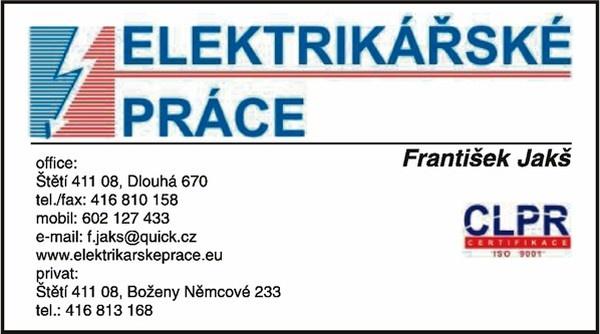 FRANTIŠEK JAKŠ - ELEKTRIKÁŘSKÉ PRÁCE  c3305c861a